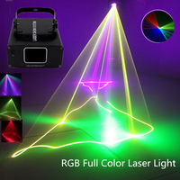 RGB Full Color Laser Projector Linear Beam Scans DMX DJ Dance Bar Coffee Xmas Home Party Disco Effect Lighting Light System Show