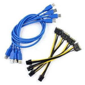 Image 5 - PCIe 1 à 4 PCI Express 16X emplacements Riser carte PCI E 1X à externe 4 PCI e slot adaptateur Port multiplicateur Minning carte ajouter dans la carte