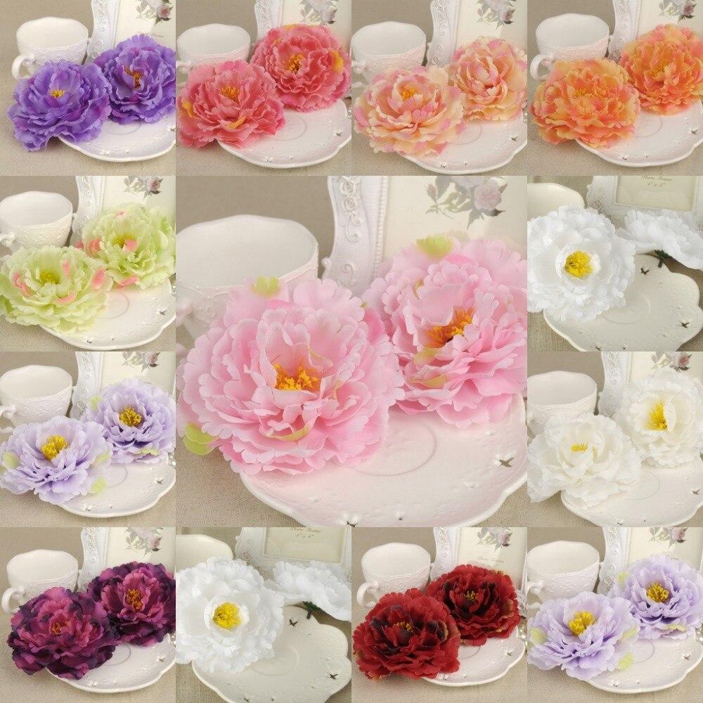 ᗜ LjഃDIY 20Pcs Artificial Silk Flower Heads Peony 12cm For Bouquet ...