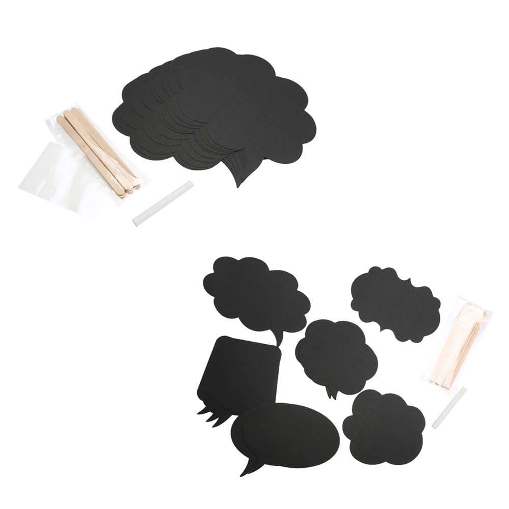 10pcs/set Wedding Party Card Photo Props DIY Self-writing Dialog Box Paper Small Blackboard Design Party Supplies