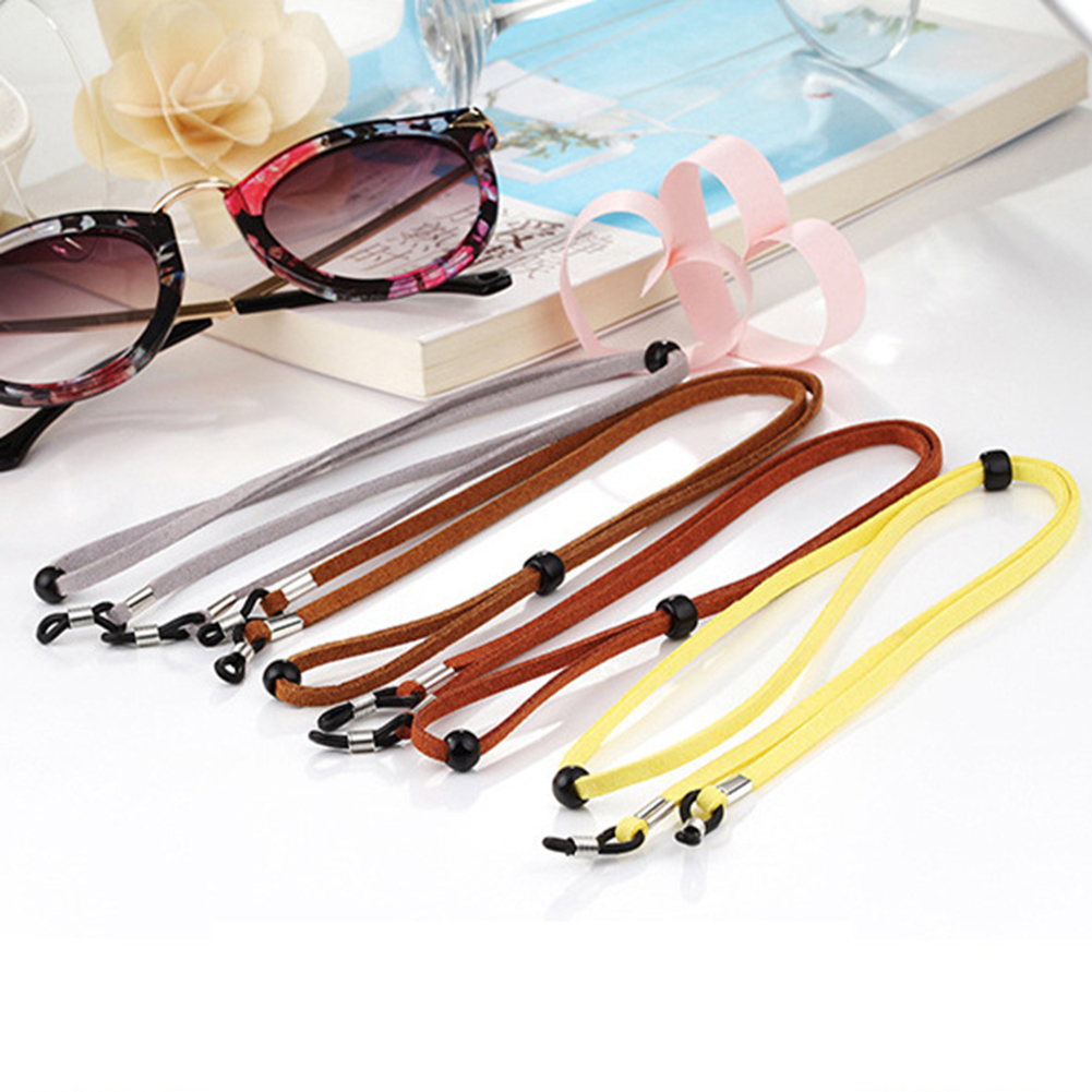 1 Pc Candy Color Elastic Suede Leather Eyeglasses Straps Sunglasses Chain Sports Anti-Slip String Glasses Ropes Band Cord Holder