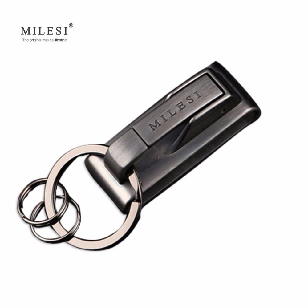 Milesi Brand Metal Keychain Waist Hang Men Key Chain Charm Keyholder Zinc Alloy Keyring Trinket Fashion Gift For Man K0125