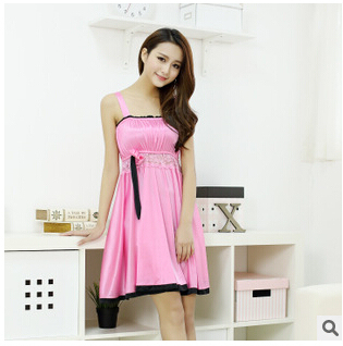 New 2016 pyjamas underwear lace  women's full strap slips dress sexy lingerie ladies slip dress intimate Slips 7 colors