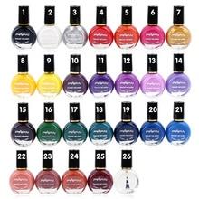 Hot 26 Colores Nail Polish Oil Stamping 10 ml Nail Stamping Sello de Impresión Polaco Dedicado Etiqueta Engomada Del Arte Del Clavo Auténtico