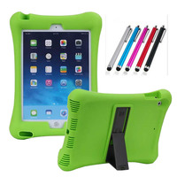 New Arrival Case For Apple Ipad 6 Ipad Air 2 Soft Silicon Rubber Kids Shockproof Tablet