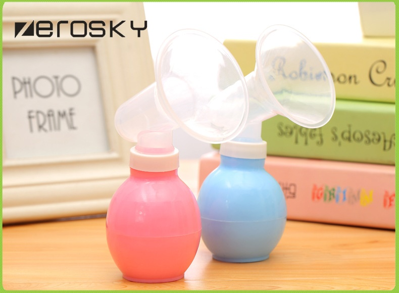 Zerosky Unseful Squeezing Pumping Suction Enlarger Breast Pump Tractor Breastfeeding Simple Milking Device Easy Accessories