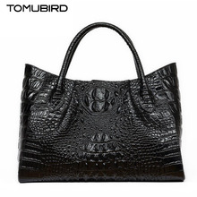 TOMUBIRD new superior cowhide leather Classic Designer Embossed Crocodile Leather Tote Handbags genuine leather bag