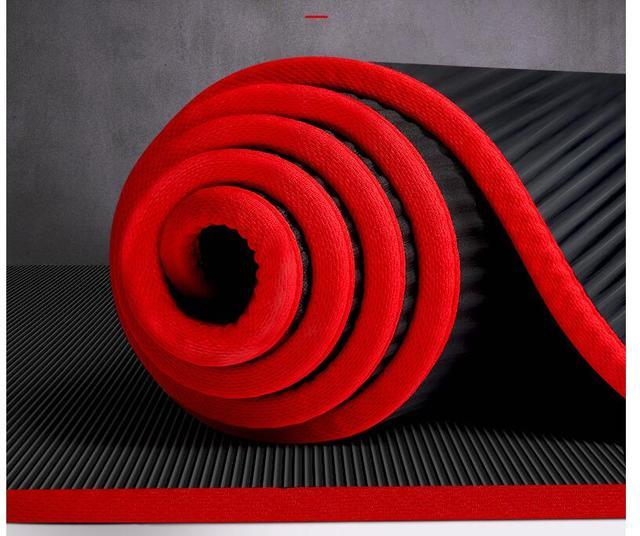 10MM Extra spessi 183cmX61cm NRB tappetini yoga antiscivolo per Fitness Pilates insapore palestra cuscinetti per esercizi con bende