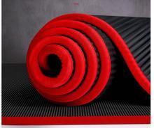 10MM ekstra kalın 183cmX61cm NRB sigara kaymaz Yoga paspaslar için spor tatsız Pilates Gym egzersiz pedleri bandaj ile