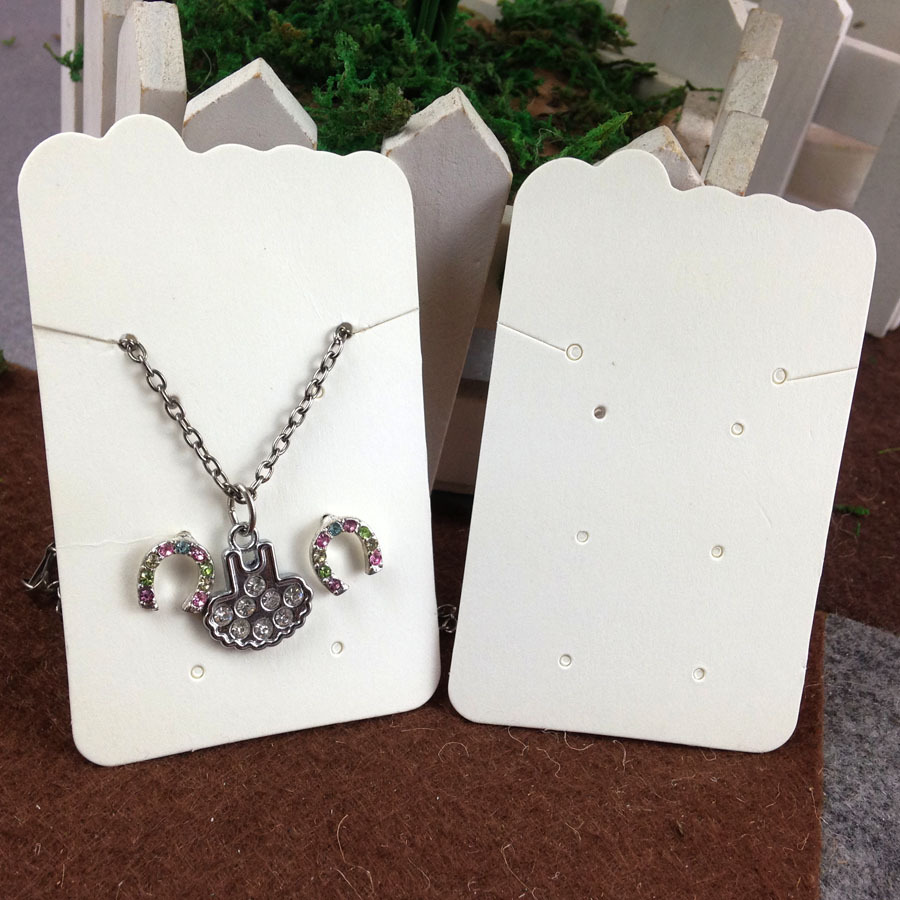 Beige Necklace Earring Display Card Hot 2017 New Blank White Custom Logo Will Cost Extra Jewelry Mult Function In Packaging From