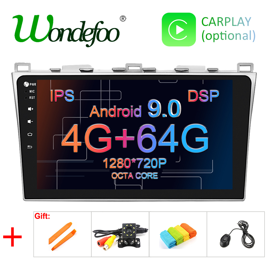 10 1 IPS screen DSP 4G 64G Android 9 0 Car GPS For Mazda 6 2008