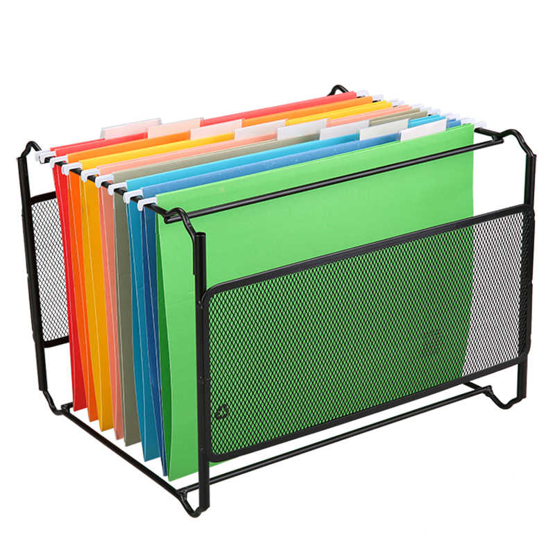 1 pcs Metal Desk Accessories Mesh Hanging File Folder Frame Documents Holder Organizador A4 Size for Company Office Supplies