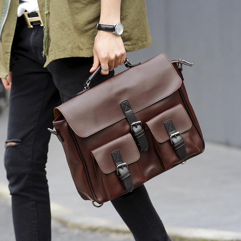 Tidog Clamshell Man Cross Section Messenger Bag Business Bag Briefcase