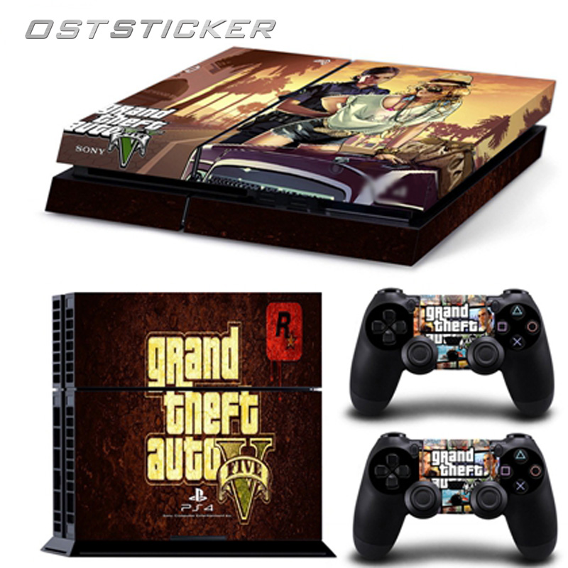 30% off OSTSTICKER Cartoon Game GTA Protective Decal Vinyl Skin Sticker for PS4 Console and Controllers
