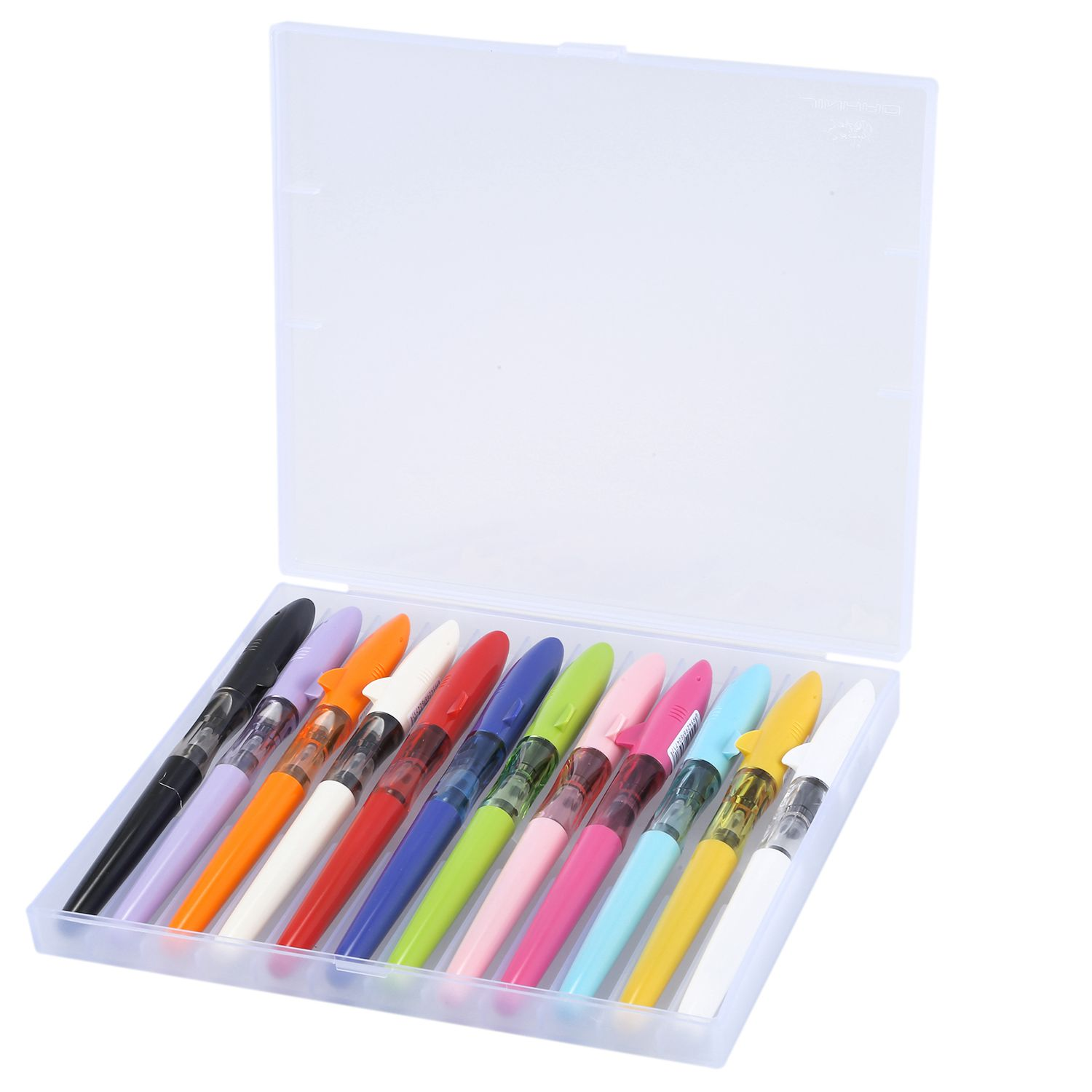 Hot sale 12pcs/box JINHAO SHARK Series Fountain Pen Candy Color Kawaii Shark Cover Student Practise Ink Pen with A Box hot sale 1000ml roland mimaki mutoh textile pigment ink in bottle color lc for sale