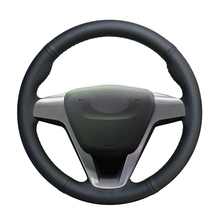 Hand stitched Black PU Artificial Leather Car Steering Wheel Cover for Lada Vesta 2015 2016 2017 2018 2019 2020 Xray 2015 2020