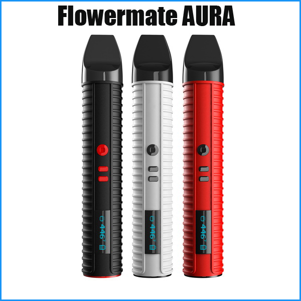 Dry Herb Vaporizer Flowermate new ecig oil cup and herbal termpreture control  vape pen 2600mah oil vaporizer AURA e cigarette 30pcs ecig ce4 battey n vape e cases