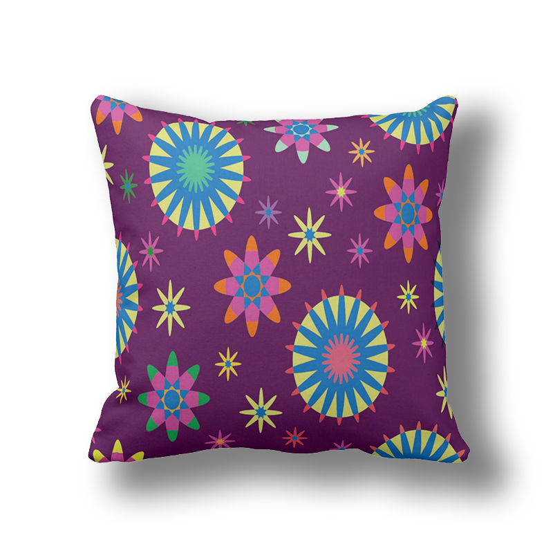 Inexpensive Throw Pillows For Couch : IKathoME Purple Floral Fall Pillows,Boho Flower Decorative Cushion Covers for Couch,Cheap Throw ...