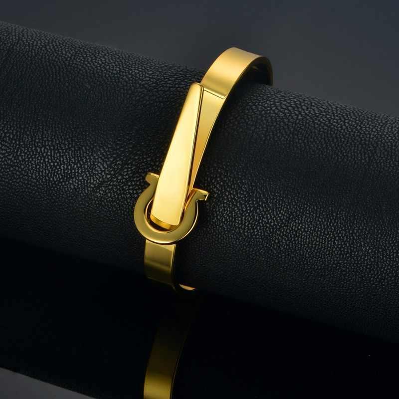 Punk Belt Shape Bracelets & Bangles For Women Wholesale Braslet Gold Color Female Jewelry Pulseira