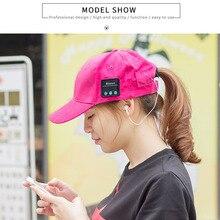New Soft Warm Earphone Hat Wireless Headphones Smart Cap Baseball Headset Speaker Mic Bluetooth Headset Hat Knitting Cap