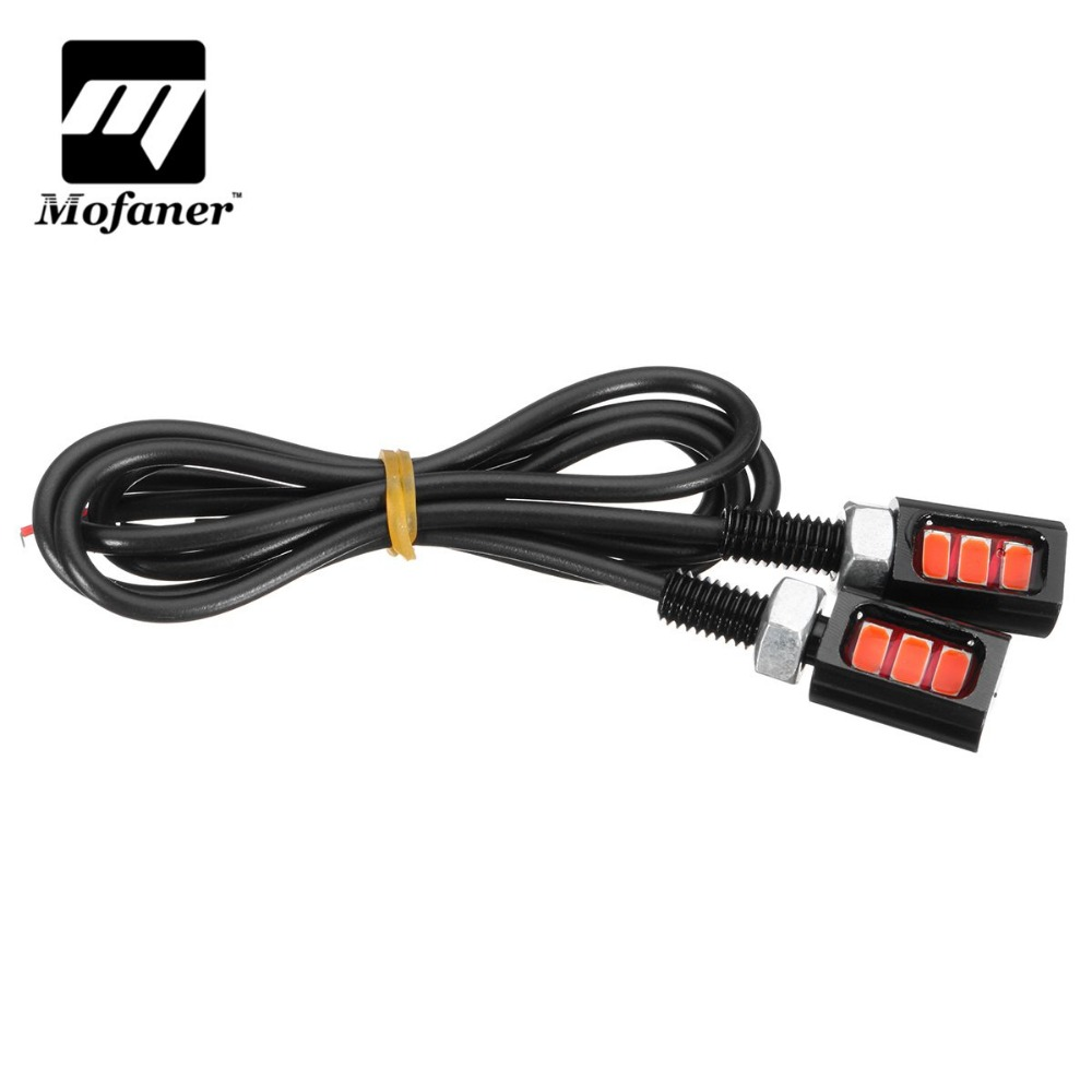 1 Pair 12V LED Universal Motorcycle Car License Plate Screw Bolt Light Lamps