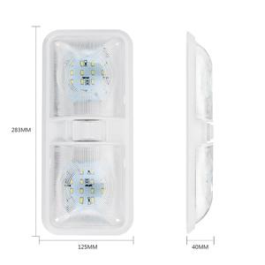 Image 2 - 1 stücke 12 v Auto Dome Licht 48LED Kunststoff Innen Dach Decke Lesen Lampe für RV Boot Yacht Camper