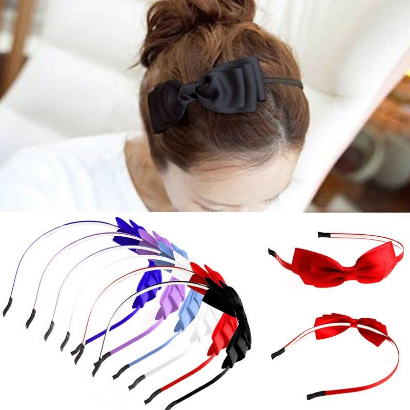 Dame Mädchen Big Bowknot Band Haar Zubehör Stirnband Bogen Kopf Band Clip Pro Diversifiziert In Der Verpackung