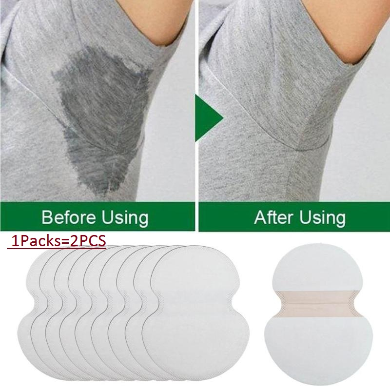 100pcs=50pairs Underarm Ultrathin Absorbent Pads Summer Disposable Armpit Sweat Pad Anti Perspiration Body Cleaning Dry Pads Hot(China)