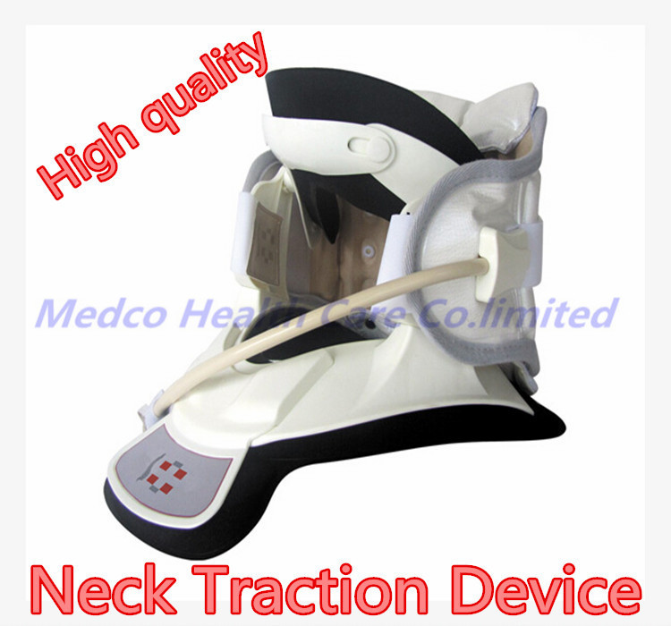 Free shipping Best neck traction therapy device medical Cervical traction neck treatment support neck pain relief neck brace new household cervical collar neck brace air traction therapy device relax pain relief neck support fixture neck traction brace