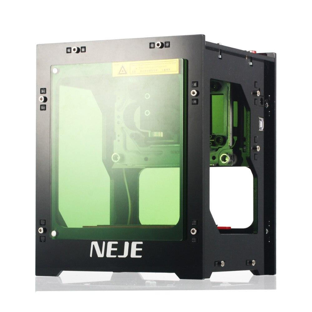Actualización NEJE 1000 MW cortador láser Cnc Mini máquina de grabado láser DIY impresión 3D grabador de alta velocidad con gafas de protección
