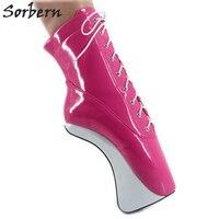 Sorbern/Лидер продаж; розовые туфли; пикантные балетки на каблуке; туфли лодочки на высоком каблуке 7 дюймов; женская обувь для вечеринок; Балетн