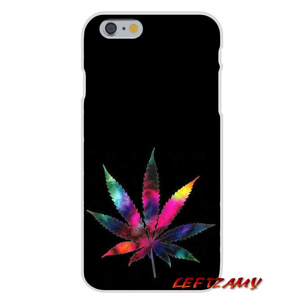 Accessories Phone Cases Covers For iPhone X 4 4S 5 5S 5C SE 6 6S 7 8 Plus Weed Leaf Grass