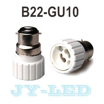 10pcs/lot B22-GU10 Lamp Holder Converter Socket, Lamp Holder Adapter Light Bulb Plug Extender free shipping