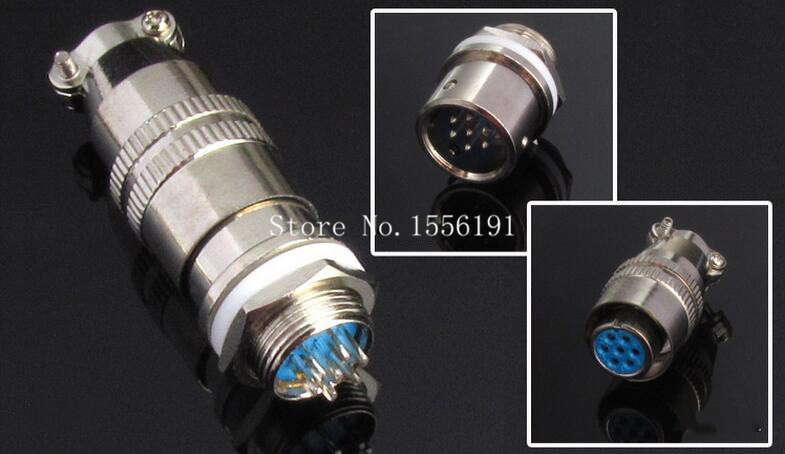 5 sets/kit 7 PIN 12mm XS12-7 Screw Aviation Connector Plug,XS12J7Y,XS12K7P,The aviation plug Cable connectors,AC/DC circuit
