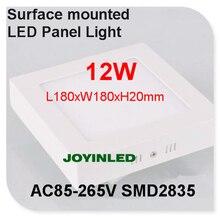 Свет панели сид 6 Вт 12 Вт кухня потолочный светильник площадь поверхностного монтажа Алюминиевый 2835SMD AC85-265V теплый/холодный белый