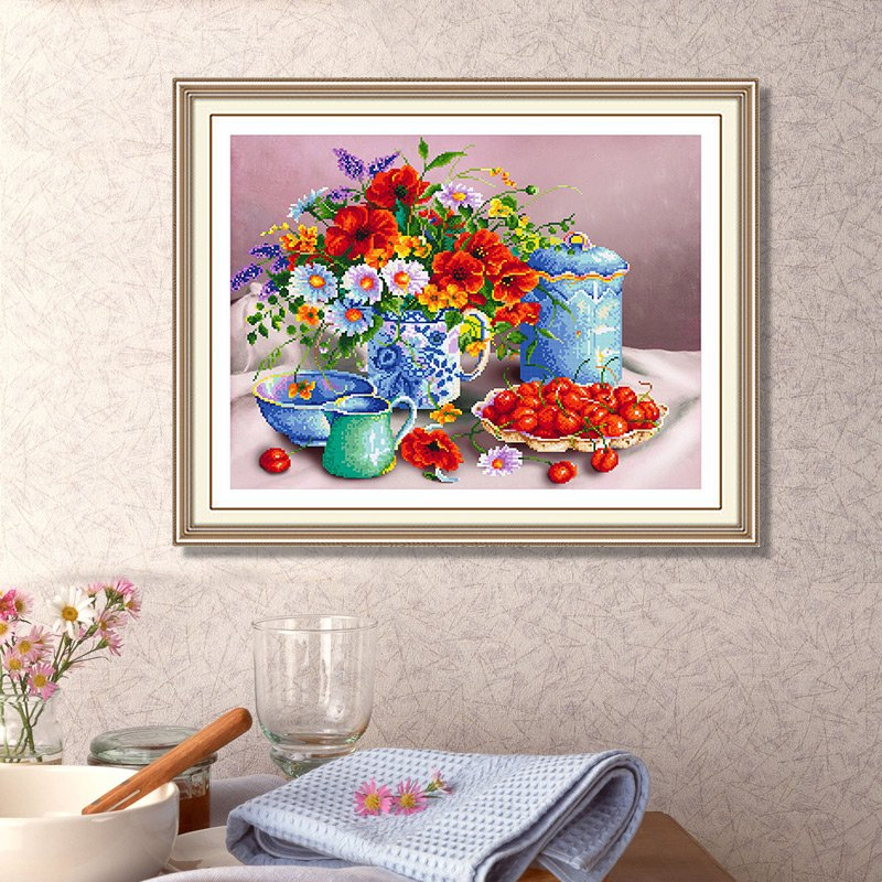 2016 DIY 5D diamond Painting flowers 3D Cross Stitch ...