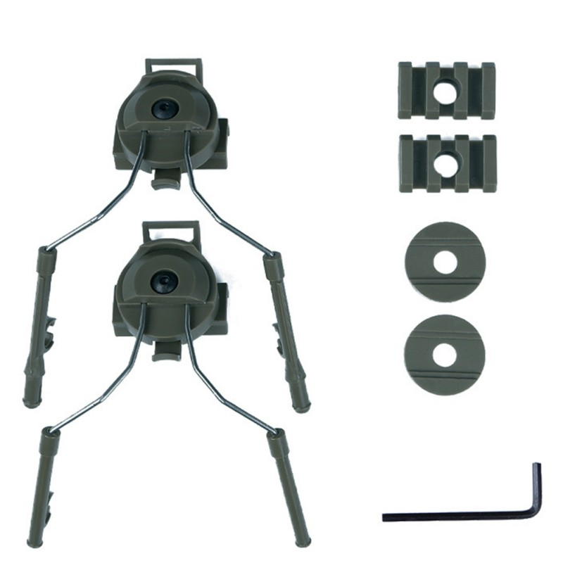 Casque accessoires Type casque support rapide casque Rail adaptateur Set BK/DE/FG casque Rail Suspension support