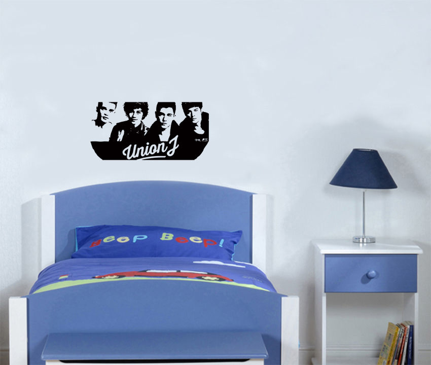Union J Group Boy Band Music Fan Children\'s Bedroom Decal ...
