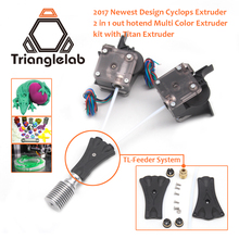 Trianglelab 3D printer V6 Cyclops dual head kit 2WAY in 1WAY out TL-Feeder Prusa bowden prometheus System with Titan Extruder