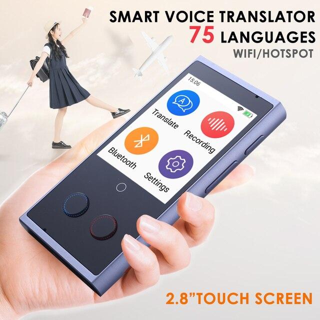 Translaty קול מתורגמן מיידי 75 חכם נייד אנגלית שפה אינטליגנטי קול מתרגמים בו זמנית מכונה מכשיר
