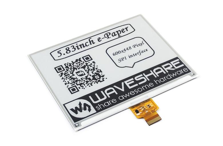 600x448, 5.83 pouces e-ink affichage brut e-paper SPI interface, sans PCB