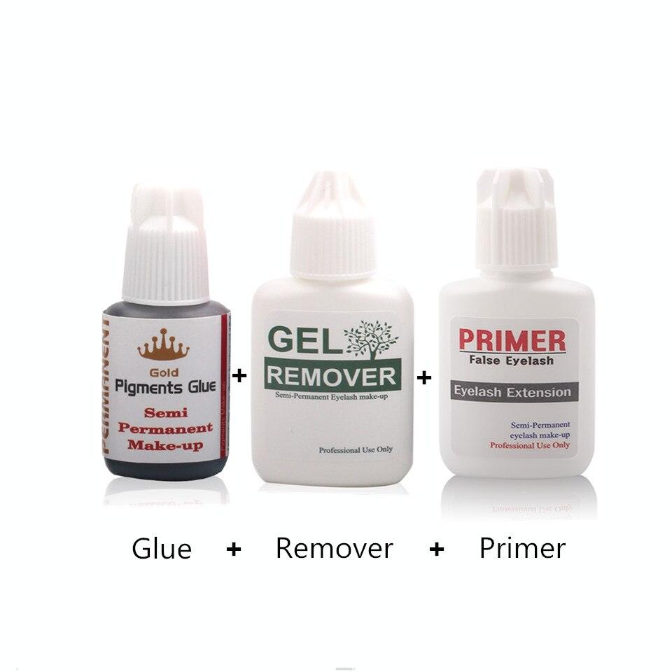 Professional Glue Remover Cleaner And Primer For Eyelash Extension Grafting Salon Makeup Tools Eyelash Glue Sets