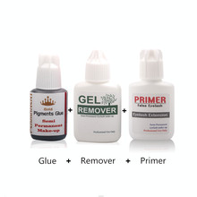 Professional Glue Remover Cleaner and Primer for Eyelash Extension Grafting Salon Makeup Tools Sets