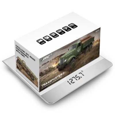 JJRC Q60 6WD RC Off-road Auto Militaire Truck Geneigd Vliegtuig Differentieel Schokdempers Snelheid Conversie
