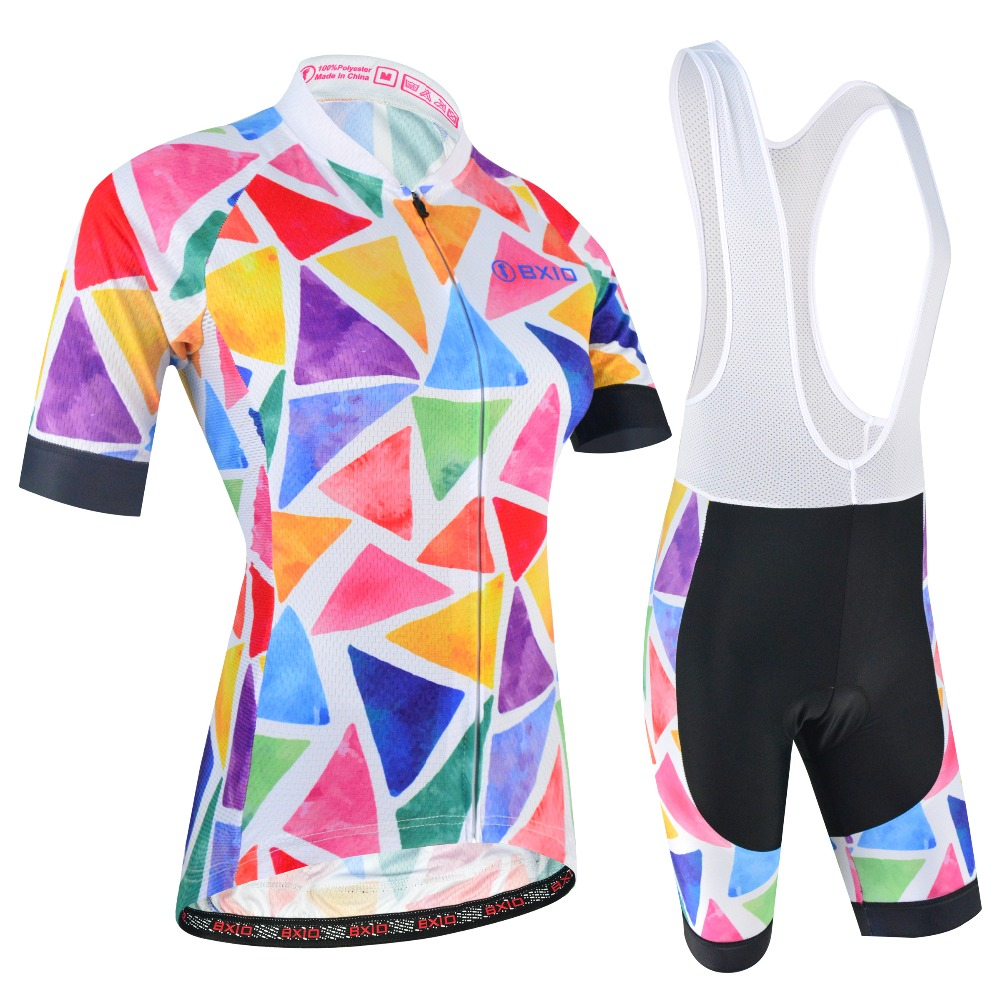 BXIO Women Cycling Clothing Breathable Summer Cycling Jersey Mountian MTB Bike Sets Bicycle Clothes Quick Dry Ropa Ciclismo 181 in Cycling Sets from Sports Entertainment