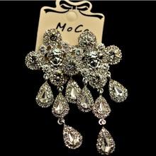 где купить Free Shipping! New Design Gold Horse Crystal Gem Water Drop Earrings for Women Jewelry Wholesale and Retail по лучшей цене