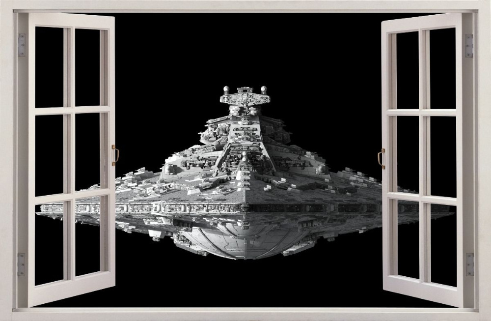 2016 Hot 3d Effect Window Wall Stickers Star Wars Sticker Art Vinyl