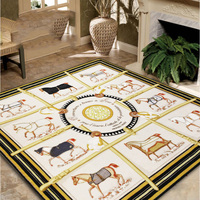 2017 latest American style modern classic living room carpet study bedroom mat animal pattern variety size