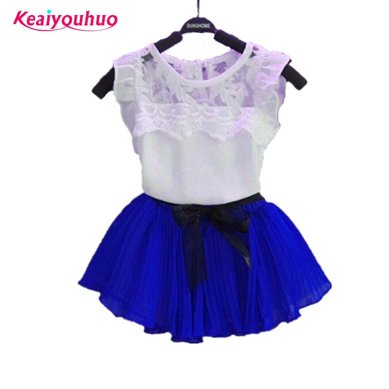 Children Clothes 2017 new Summer Girls Clothes T-shirt+Skirt 2pc Outfit Kids Clothes Girl Sport Toddler Girls Clothing Sets