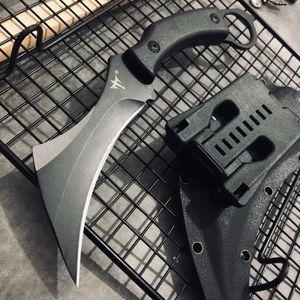 Image 1 - Karambit 전술 칼 야외 사냥 칼 생존 고정 블레이드 나이프 클로 Machete 정글 전투 나이프 캠핑 EDC 손 도구